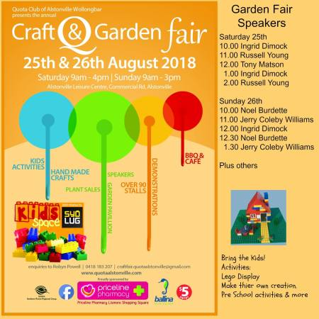 Quota international of Alstonville Wollongbar Craft and Garden Fair_ Aug 25-26_2018_final