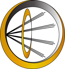 Hope's Think Tank Logo - combined rings with rays porinted to the right