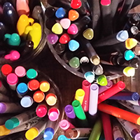 Multi-colored sharpie markers